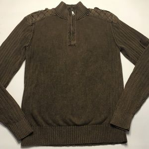 BKE Buckle Mens Size Medium Slim Fit Brown Sweater